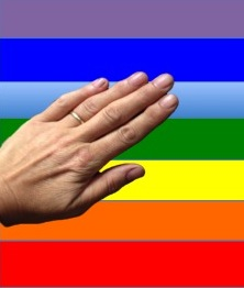 reiki hand chakra colours
